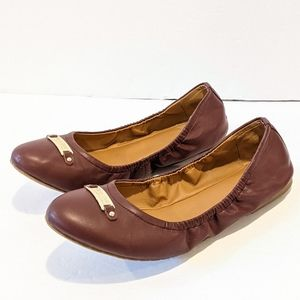 Kenneth Cole Reaction burgundy ballet flats sz 11